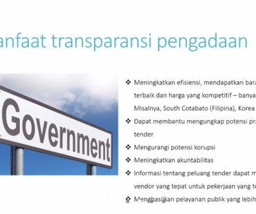 Manfaat Transparansi Pengadaan Barang dan Jasa Pemerintah