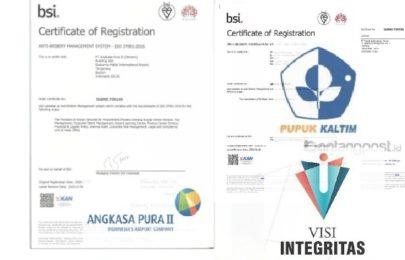 Tahun 2020, Visi Integritas Sukses Mendampingi PT Pupuk Kaltim dan PT Angkasa Pura II Meraih Sertifikat ISO 37001