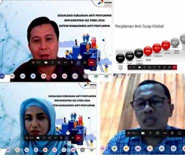 Sosialisasi Kebijakan Anti Penyuapan Implementasi SMAP ISO 37001:2016 di Pertamina EP