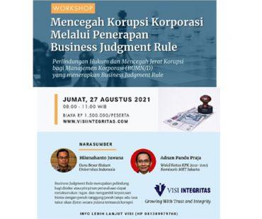 Workshop Mencegah Jerat Korupsi untuk Pengelola BUMN/D